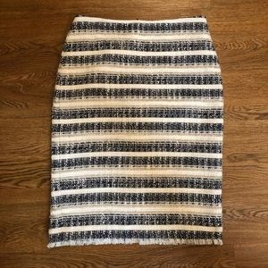 Ann Taylor Tweed Pencil Skirt Size 0